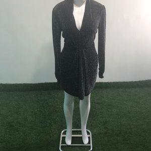 Gabrielle Union NY&Co  black shiny dress